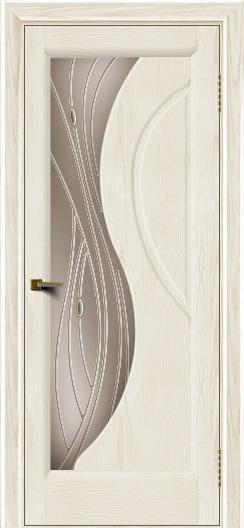 Двери ЛайнДор Прага 2 тон 36 стекло Волна бронза