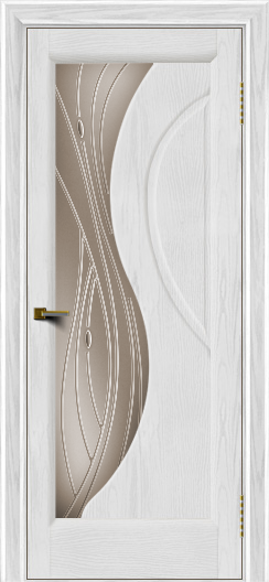 Двери ЛайнДор Прага 2 тон 38 стекло Волна бронза