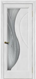 Двери ЛайнДор Прага 2 тон 38 стекло Волна светлое