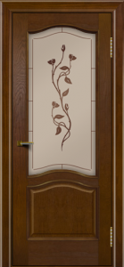 Двери ЛайнДор Пронто тон 30 стекло Маки