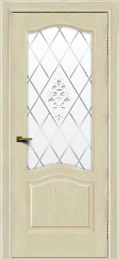 Двери ЛайнДор Пронто тон 34 стекло Лилия
