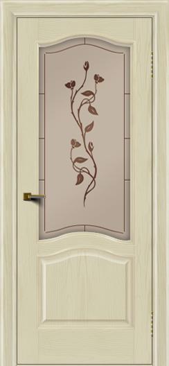 Двери ЛайнДор Пронто тон 34 стекло Маки