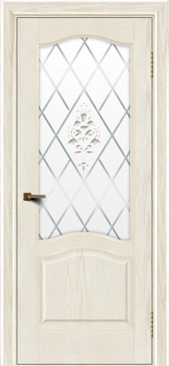 Двери ЛайнДор Пронто тон 36 стекло Лилия