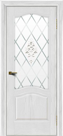 Двери ЛайнДор Пронто тон 38 стекло Лилия