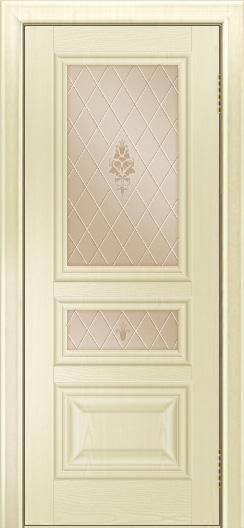Двери ЛайнДор Агата тон 42 стекло Лилия бронза