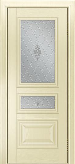 Двери ЛайнДор Агата тон 42 стекло Лилия