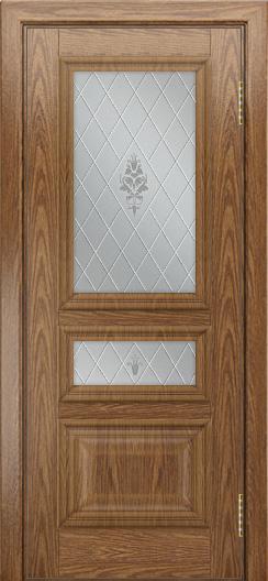 Двери ЛайнДор Агата тон 45 стекло Лилия