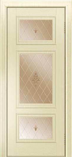 Двери ЛайнДор Афина тон 42 стекло Лилия бронза