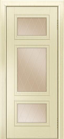 Двери ЛайнДор Афина тон 42 стекло Лондон бронза