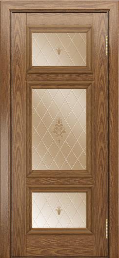 Двери ЛайнДор Афина тон 45 стекло Лилия бронза