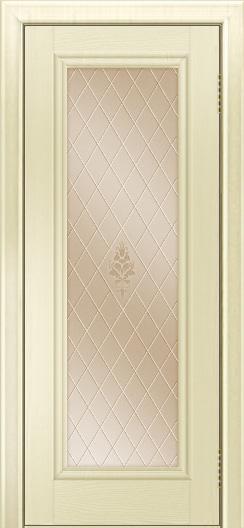 Двери ЛайнДор Валенсия тон 42 стекло Лилия бронза