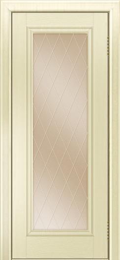 Двери ЛайнДор Валенсия тон 42 стекло Лондон бронза