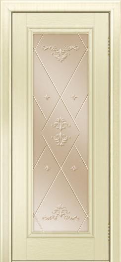 Двери ЛайнДор Валенсия тон 42 стекло Прима бронза