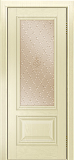Двери ЛайнДор Виолетта тон 42 стекло Лилия бронза