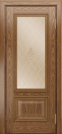 Двери ЛайнДор Виолетта тон 45 стекло Лилия бронза