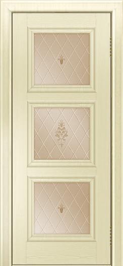 Двери ЛайнДор Грация тон 42 стекло Лилия бронза