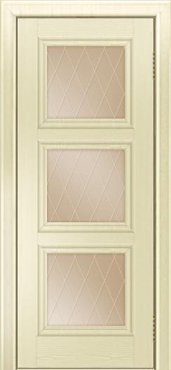 Двери ЛайнДор Грация тон 42 стекло Лондон бронза