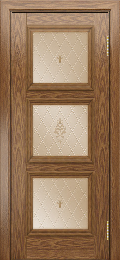 Двери ЛайнДор Грация тон 45 стекло Лилия бронза