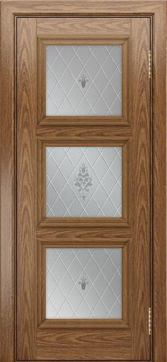 Двери ЛайнДор Грация тон 45 стекло Лилия