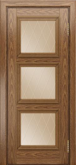 Двери ЛайнДор Грация тон 45 стекло Лондон бронза