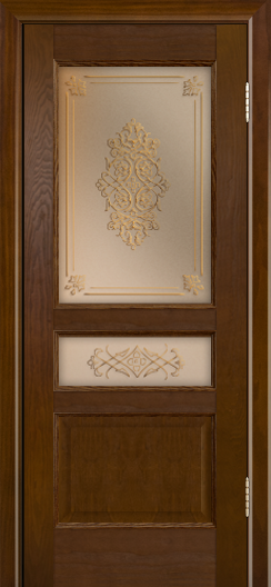 Двери ЛайнДор Калина-К тон 30 стекло Дамаск бронза