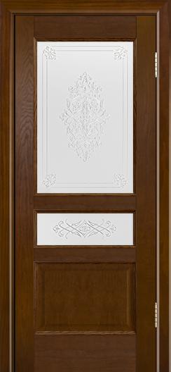 Двери ЛайнДор Калина-К тон 30 стекло Дамаск