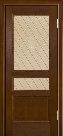 Двери ЛайнДор Калина-К тон 30 стекло Лилия бронза