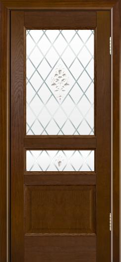 Двери ЛайнДор Калина-К тон 30 стекло Лилия