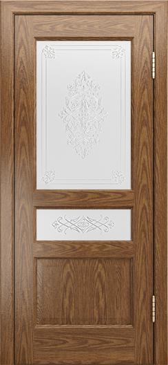 Двери ЛайнДор Калина-К тон 45 стекло Дамаск