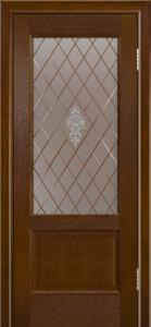 Двери ЛайнДор Кантри-К тон 30 стекло Лилия-СТ