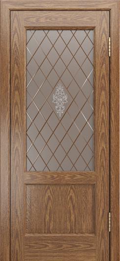 Двери ЛайнДор Кантри-К тон 45 стекло Лилия-СТ
