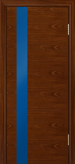 Двери Лайндор Камелия К5 тон 10 стекло Синее