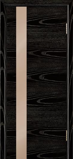 Двери Лайндор Камелия К5 тон 26 стекло Серо-коричневое