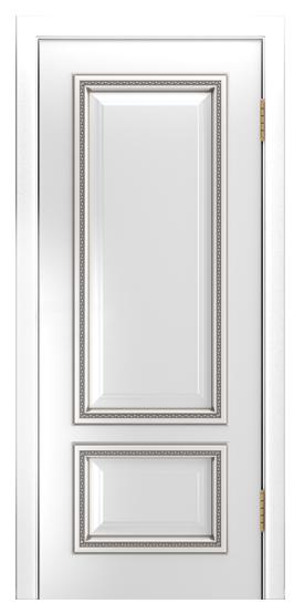Двери Лайндор Виолетта-Д эмаль белая серебряная патина