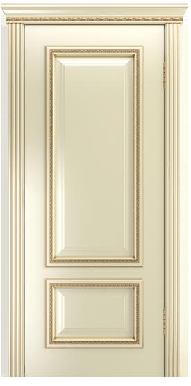 Двери Лайндор Виолетта-Д эмаль бисквит золотая патина карниз