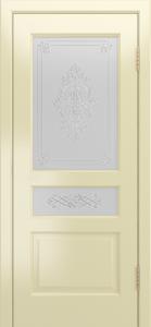 Двери Лайндор Калина К эмаль бесквит стекло Дамаск