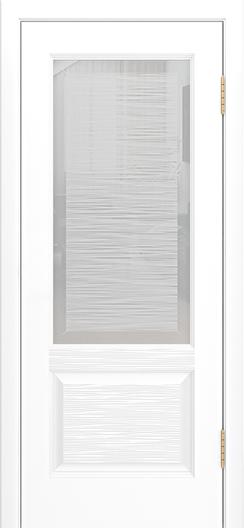 Двери Лайндор Эстелла К эмаль белая стекло Волна