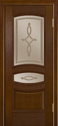 Дверь Лайндор Алина М тон 30 стекло Неаполь бронза