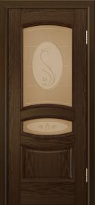 Дверь Лайндор Алина М тон 35 стекло Алина бронза