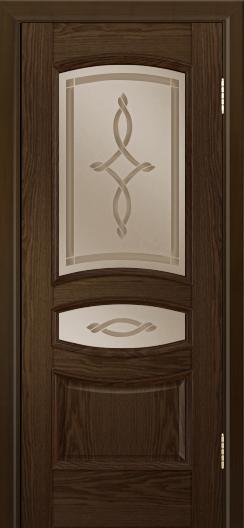 Дверь Лайндор Алина М тон 35 стекло Неаполь бронза