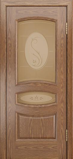 Дверь Лайндор Алина М тон 45 стекло Алина бронза