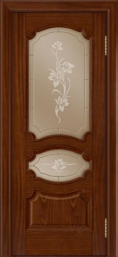 Дверь Лайндор Марта тон 10 стекло Рим бронза