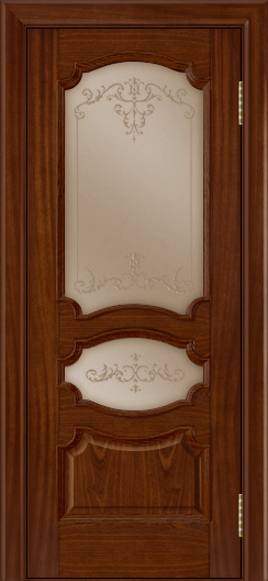 Дверь Лайндор Марта тон 10 стекло Элегия бронза наливка прозрачная