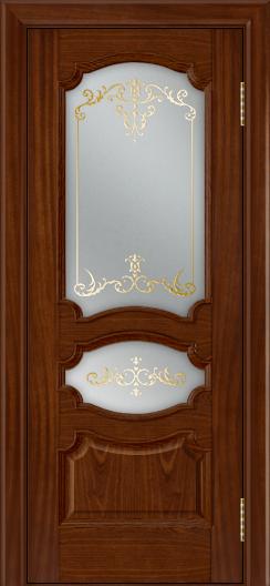 Дверь Лайндор Марта тон 10 стекло Элегия светлое наливка золото