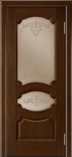 Дверь Лайндор Марта тон 2 стекло Элегия бронза наливка прозрачная