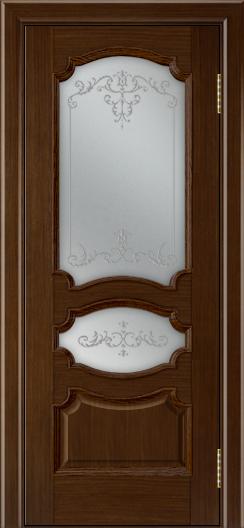 Дверь Лайндор Марта тон 2 стекло Элегия светлое наливка прозрачная