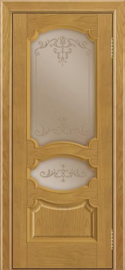 Дверь Лайндор Марта тон 24 стекло Элегия бронза наливка прозрачная