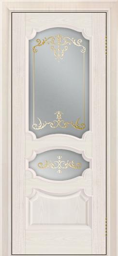 Дверь Лайндор Марта тон 27 стекло Элегия светлое наливка золото