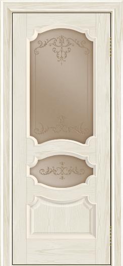 Дверь Лайндор Марта тон 34 стекло Элегия бронза наливка прозрачная