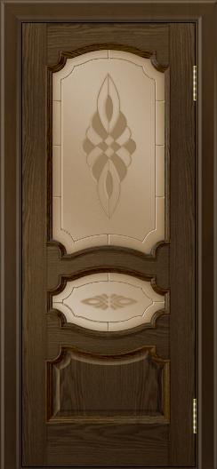 Дверь Лайндор Марта тон 35 стекло Византия бронза
